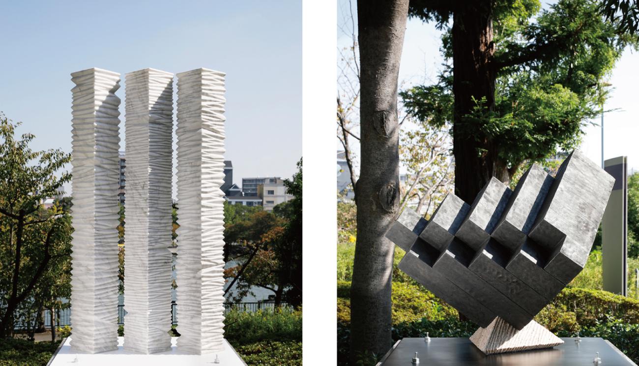 """OAP Sculpture Path 2019-2021:Masayuki Tsubota and Kouzo Takeuchi """"Axis"""""""