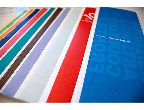 """Art Court Frontier"" exhibits catalogs"