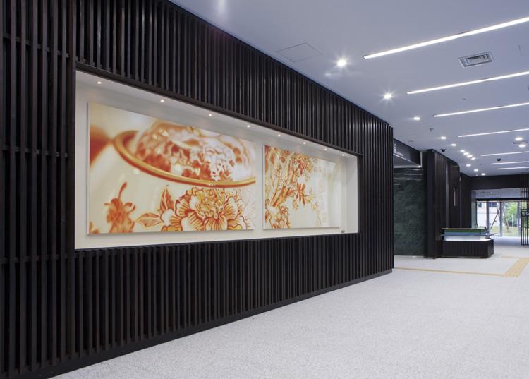 Shiga Prefectural Government Otsu Biwako Joint Office, entrance (exterior / lobby)  and ART Lounge